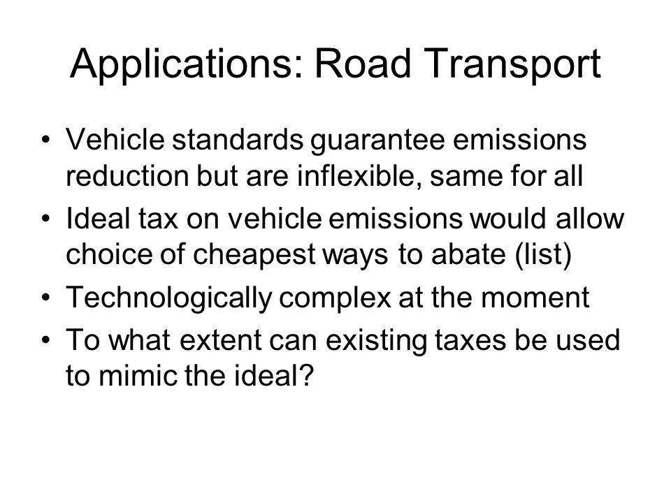 Applications: Road Transport