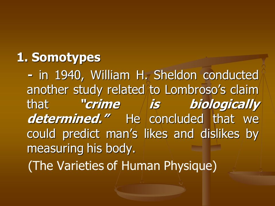 is criminal behavior biologically determined To summarize, we can say that (1) criminal behavior, especially chronic criminal behavior, seems to be partly genetically predisposed (2) an important task at this point is to attempt to determine the biological factors which predispose people to crime and (3) we have related some tentative initial steps being taken in the.