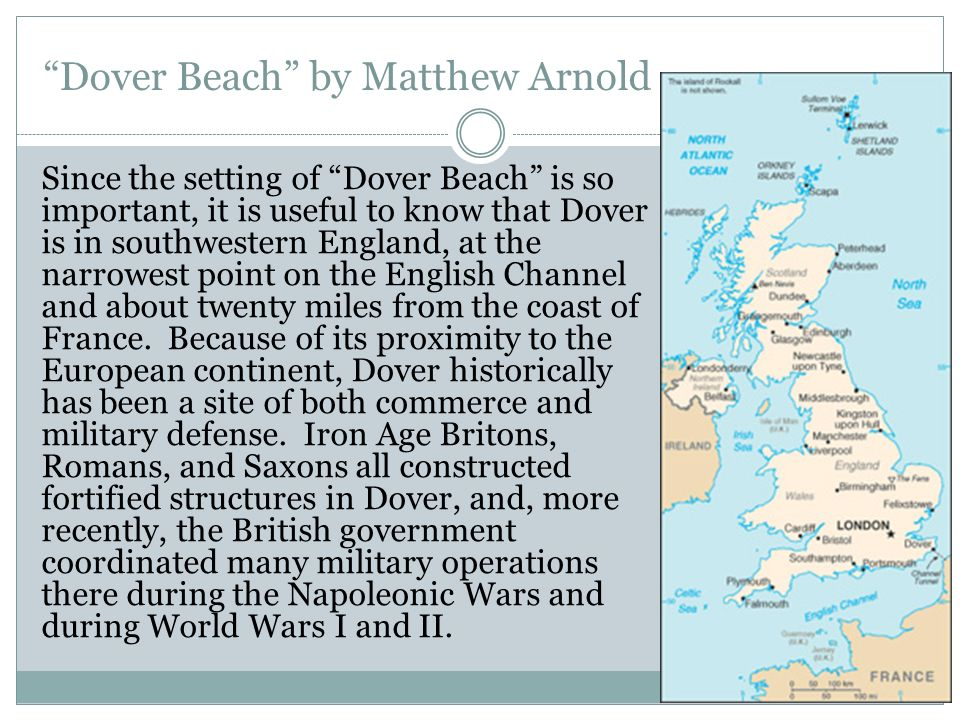 analysis of dover beach by matthew