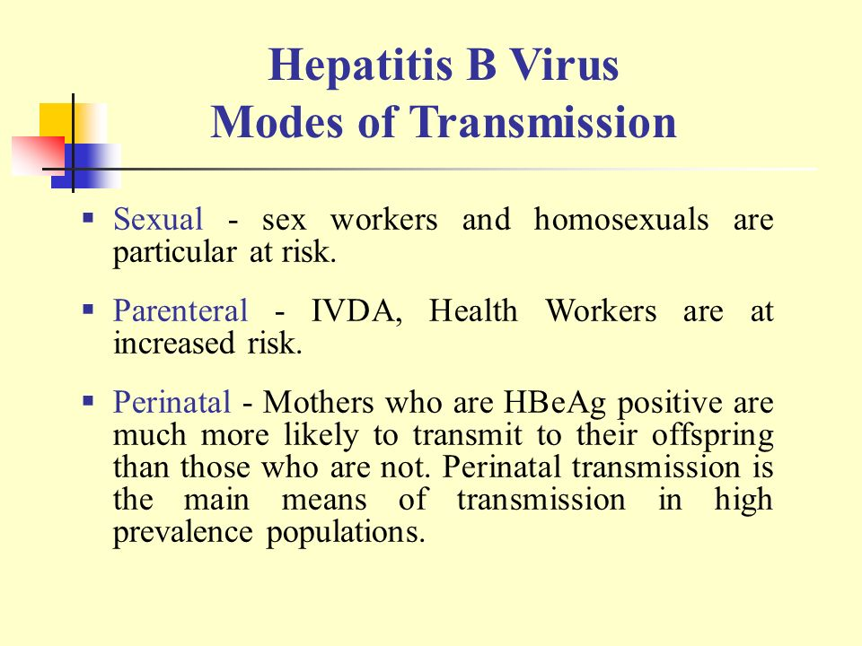 Sexual Transmission Of Hepatitis B