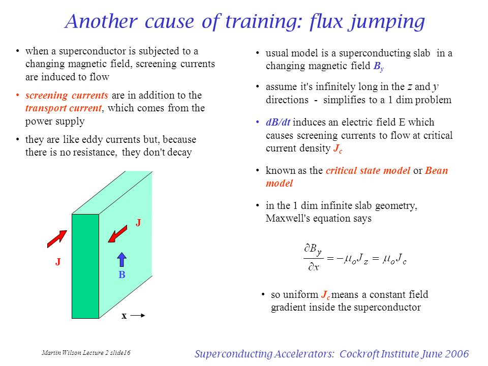 Another cause of training: flux jumping