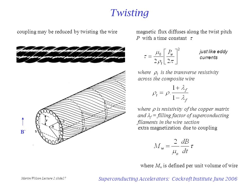 Twisting coupling may be reduced by twisting the wire