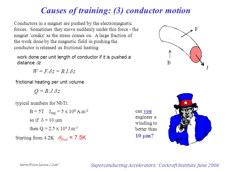 Causes of training: (3) conductor motion