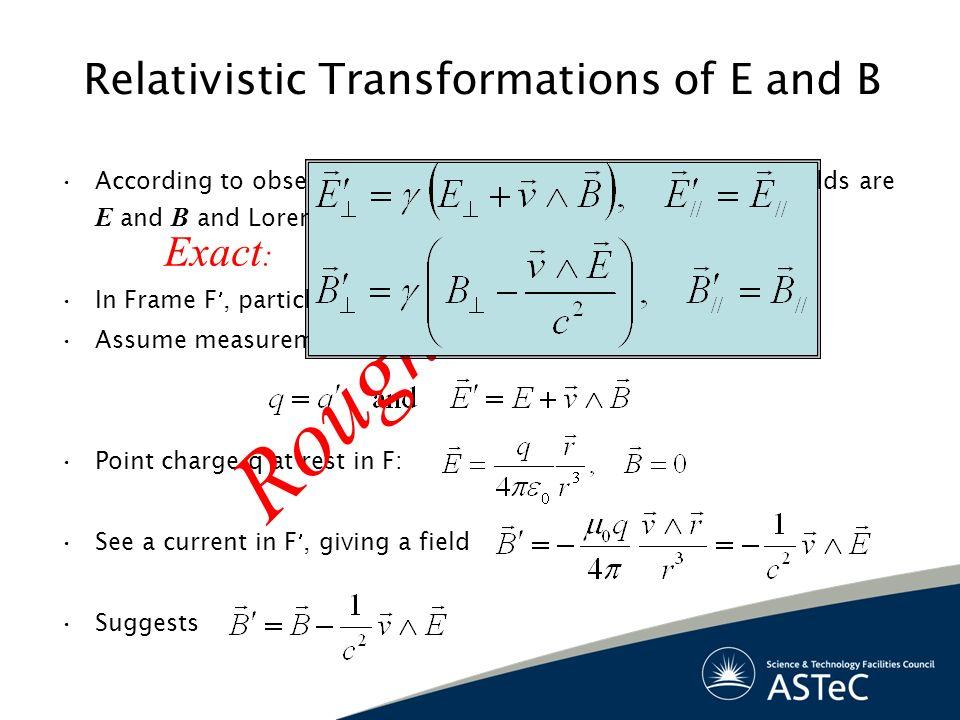 Relativistic Transformations of E and B