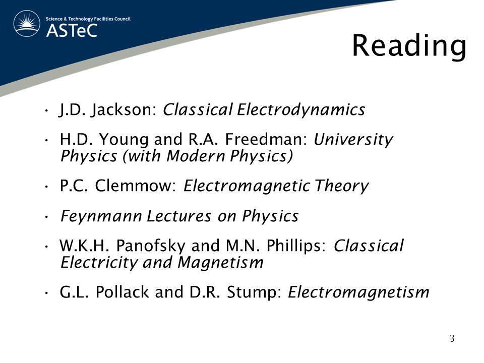 Reading J.D. Jackson: Classical Electrodynamics
