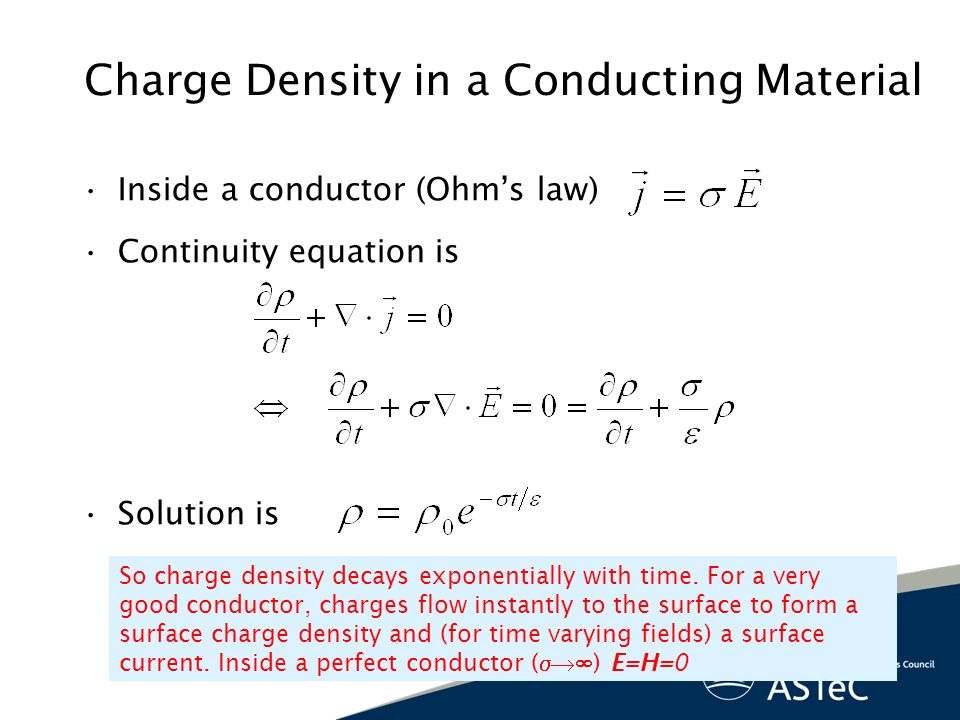 Charge Density in a Conducting Material