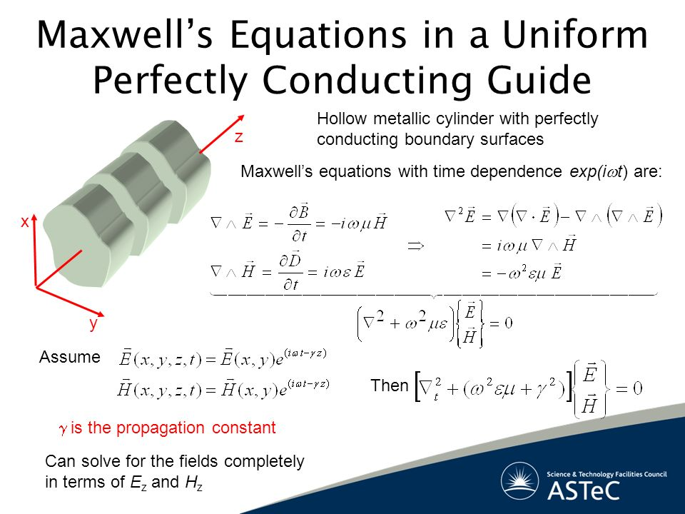 Maxwell's Equations in a Uniform Perfectly Conducting Guide