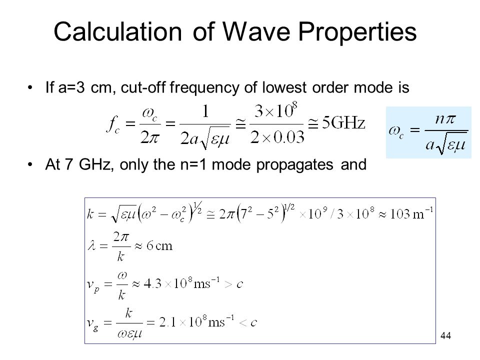 Calculation of Wave Properties