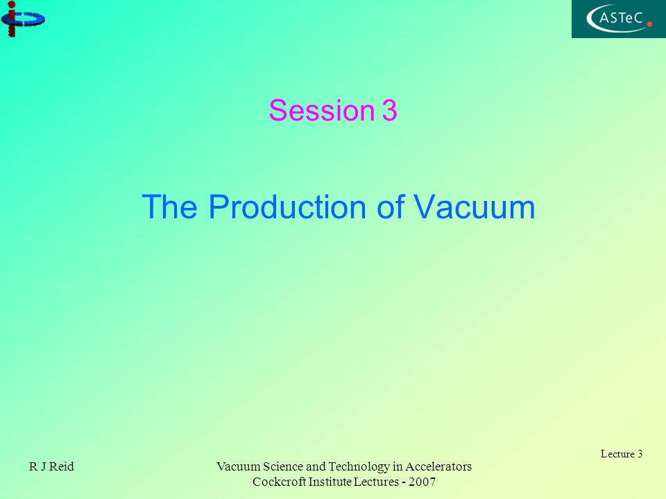 The Production of Vacuum