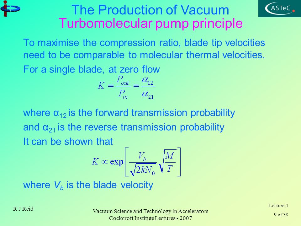 Turbomolecular pump principle