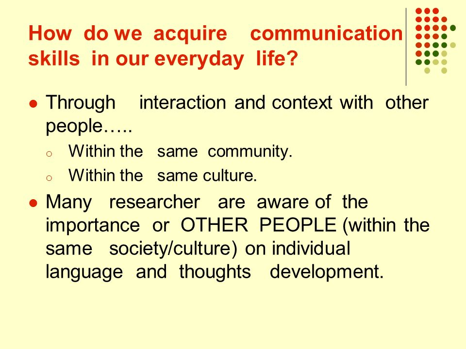 importance of culture to communication Home essay samples importance of communication – the role of culture introduction culture refers to the relatively specialized lifestyle o a group of people – consisting of their values, beliefs, artifacts, ways of behaving, and ways of communicating.