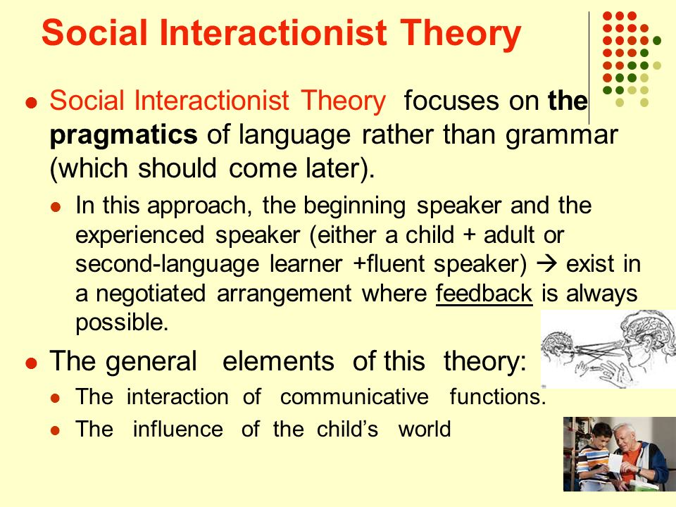 elements of social interaction Social interaction is the process and means whereby we exchange ideas and  meaning by means of action and reaction in the view the full answer.