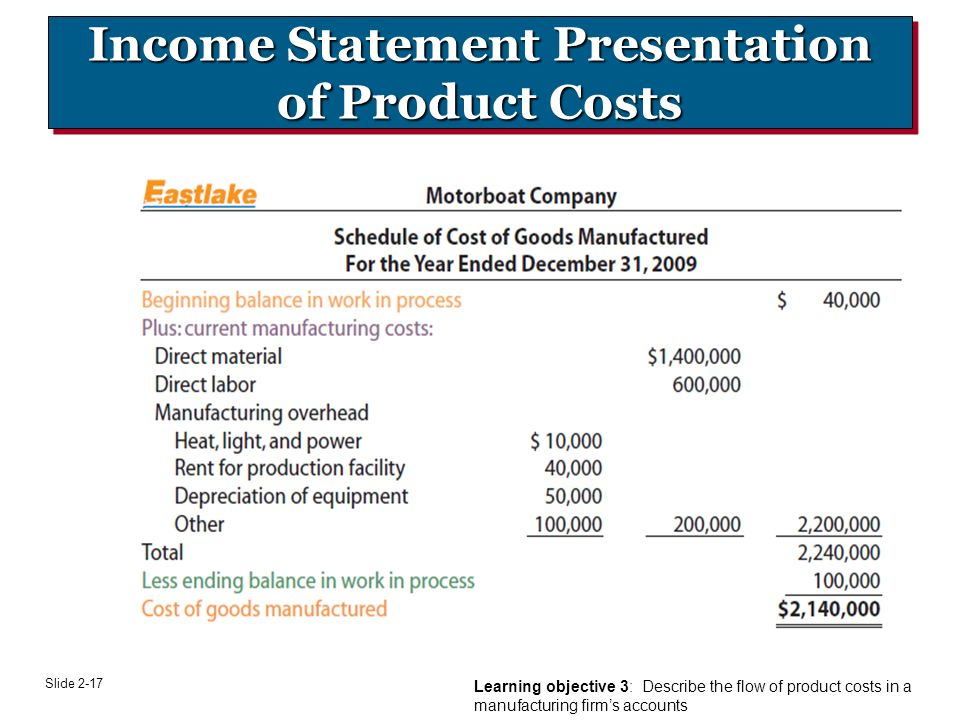 income statement presentation The income statement is presented in two primary formats first is the summation form where all three types of accounts are displayed with a gross profit and a net income (net profit) the second form uses the three column presentation format where values of subgroups of similar accounts are identified and in the second column and the total.