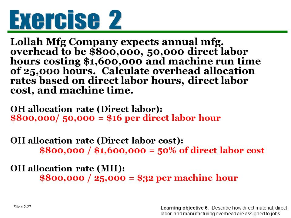 job order costing for manufacturing and service