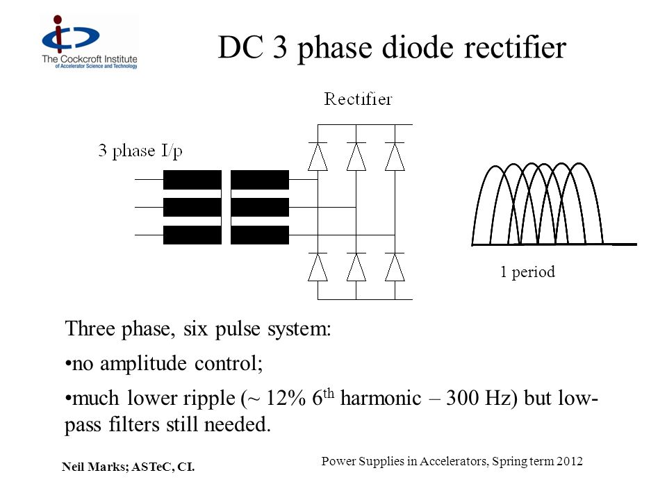 DC 3 phase diode rectifier