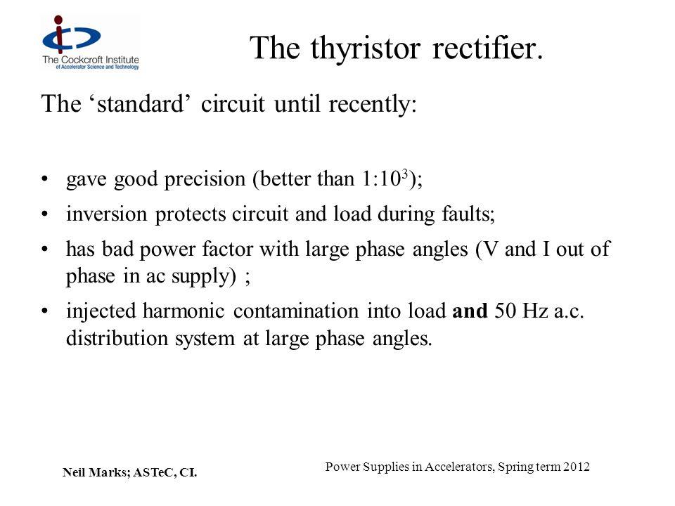 The thyristor rectifier.