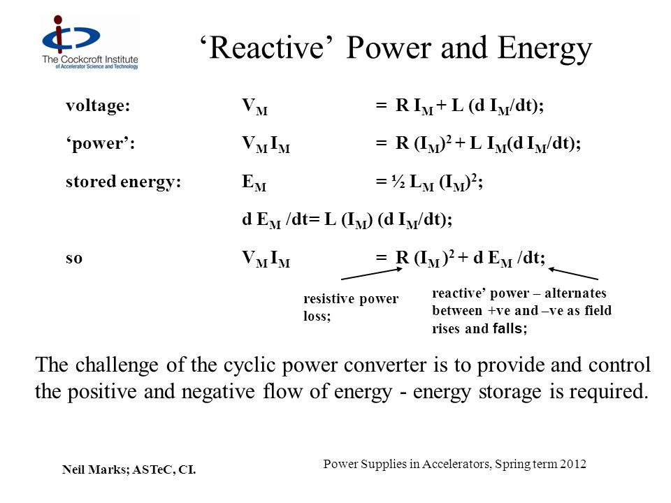 'Reactive' Power and Energy