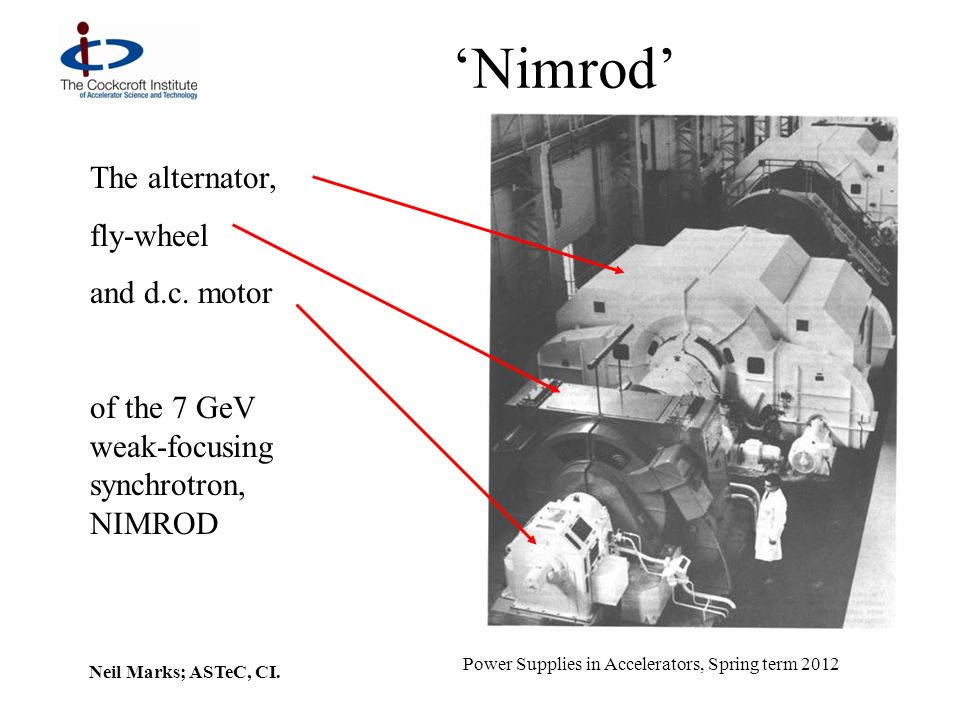 'Nimrod' The alternator, fly-wheel and d.c. motor