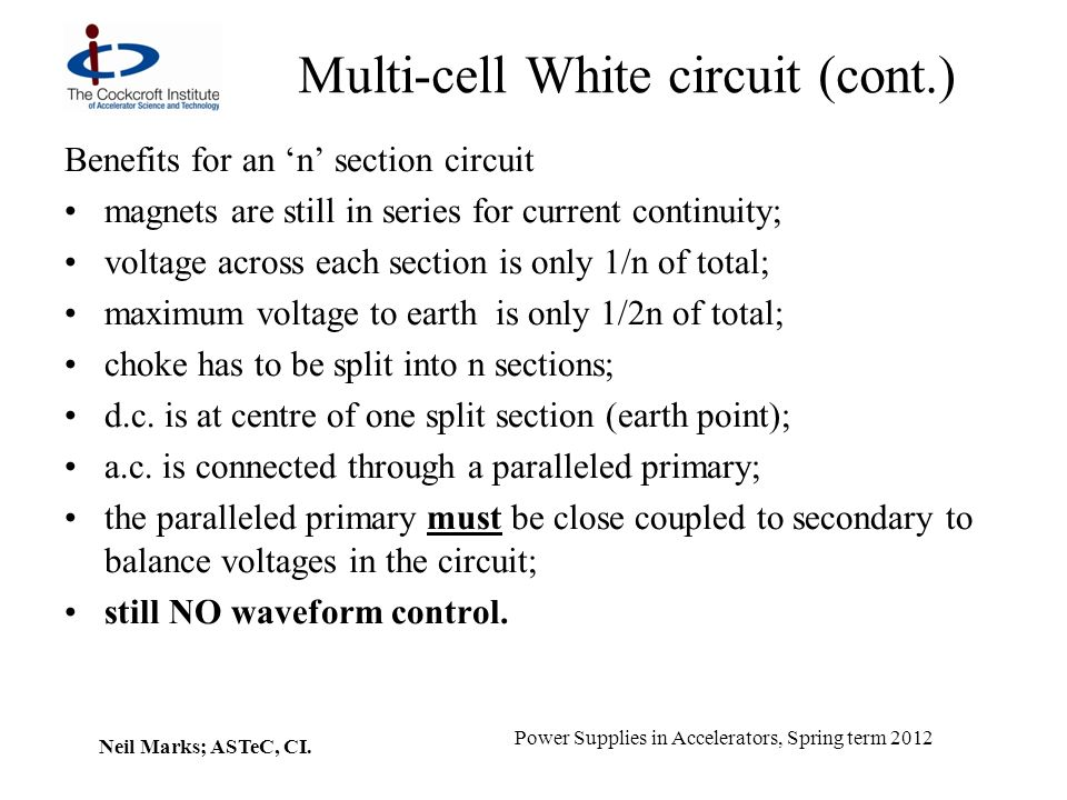 Multi-cell White circuit (cont.)