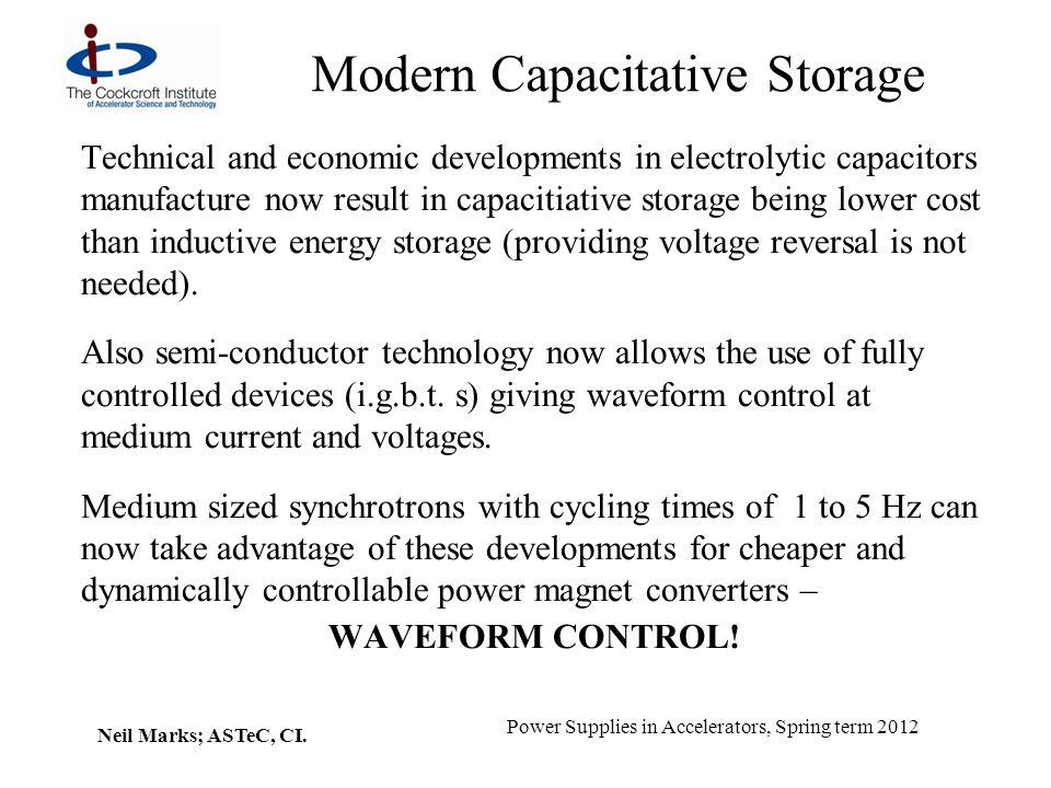 Modern Capacitative Storage