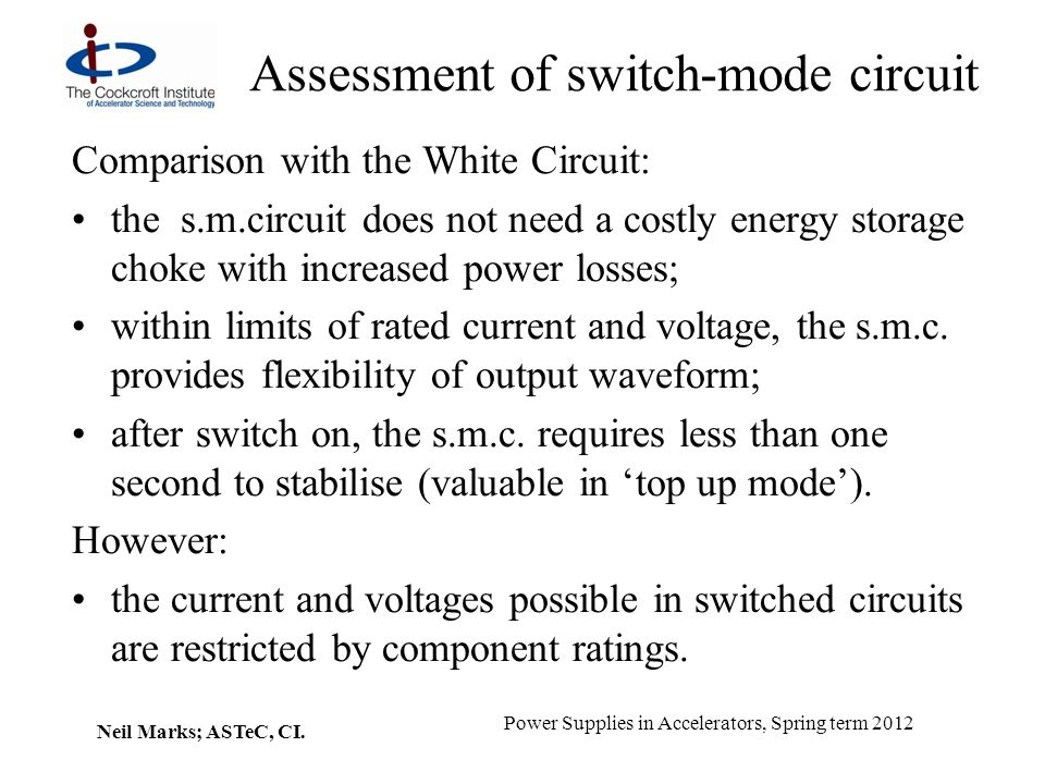 Assessment of switch-mode circuit