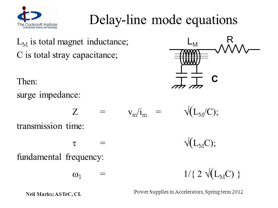 Delay-line mode equations