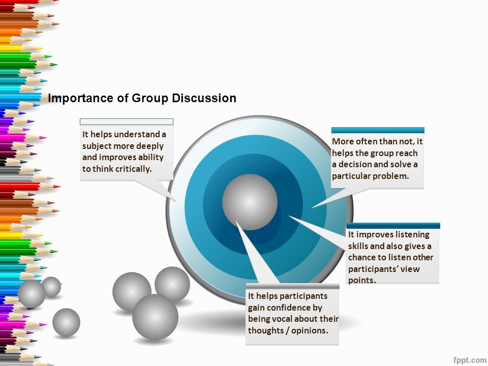 essay importance group discussion Communication is an important facet of life communication skills are essay on the importance of good the group discussion communication skills.