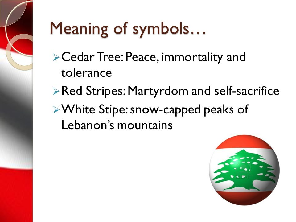 The lebanese flag history of the lebanese flag and what What is the meaning of tree