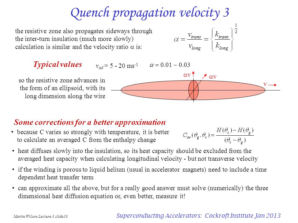 Quench propagation velocity 3