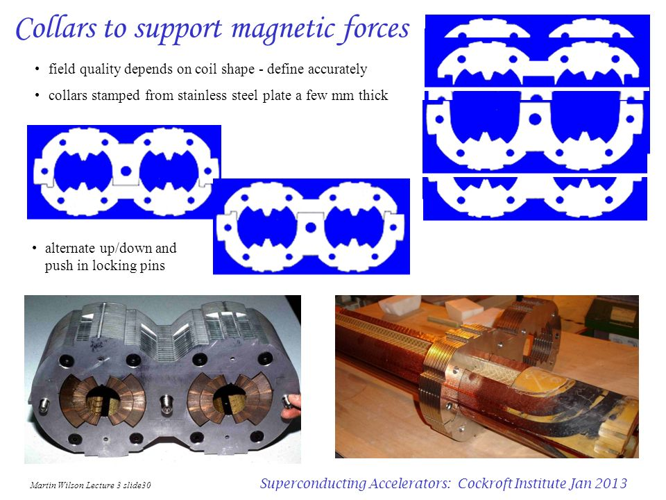 Collars to support magnetic forces