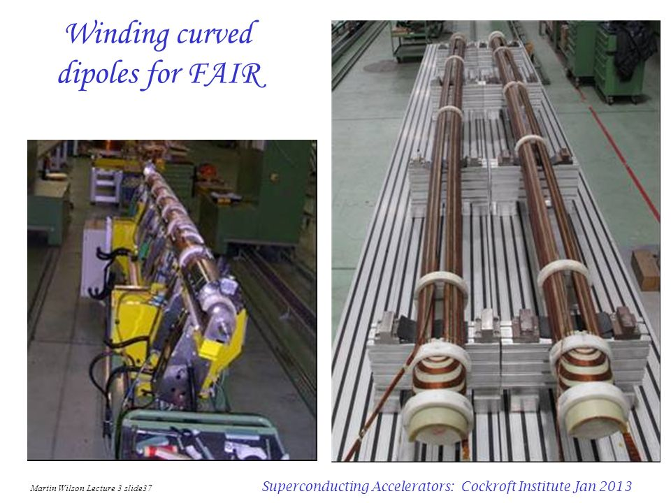 Winding curved dipoles for FAIR