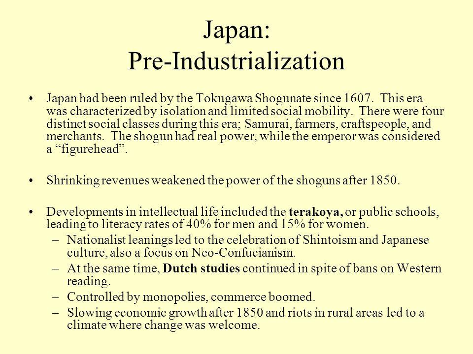 japanese industrialization and economic growth Basis for industrial growth,  industrialization reduced economic inequalities of the old tokugawa  documents similar to economic modernization of meiji japan.