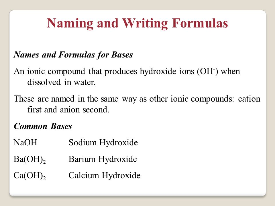 Unit 6: Writing and Naming Chemical Formulas PowerPoint Presentation, PPT - DocSlides