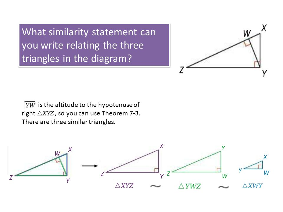 7 4 Similarity In Right Triangles Ppt Download