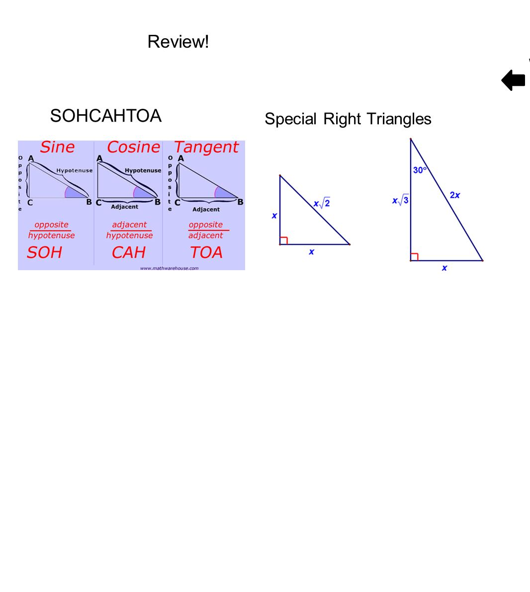 how to find the hypotenuse using sohcahtoa