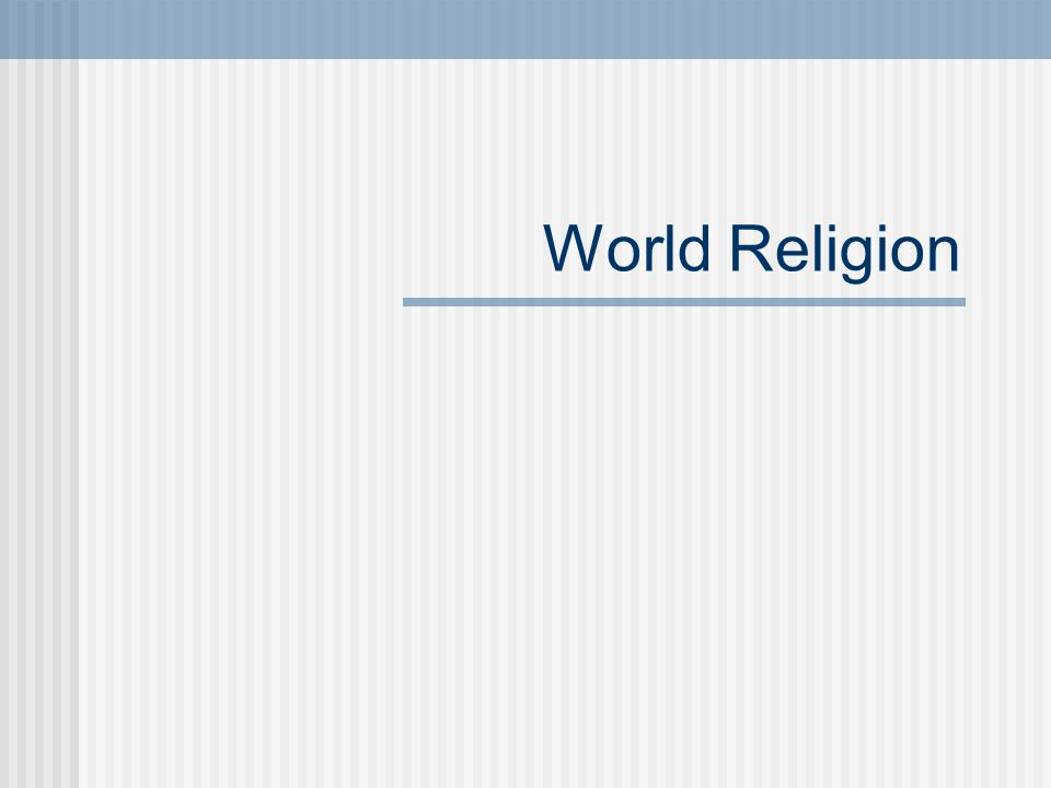 World Religion