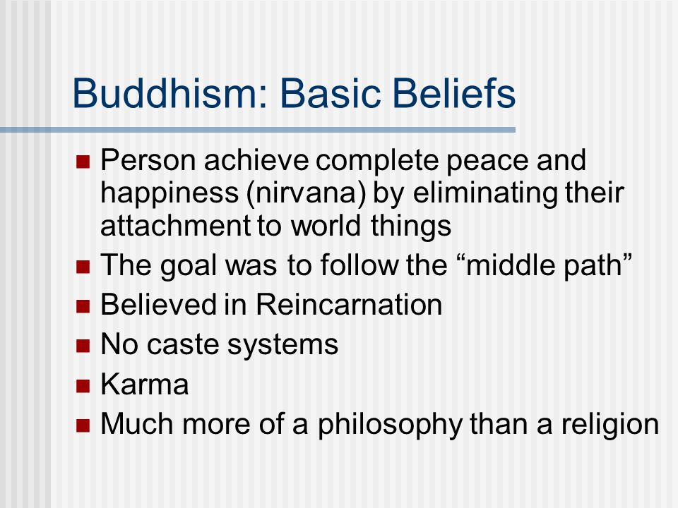 Buddhism: Basic Beliefs
