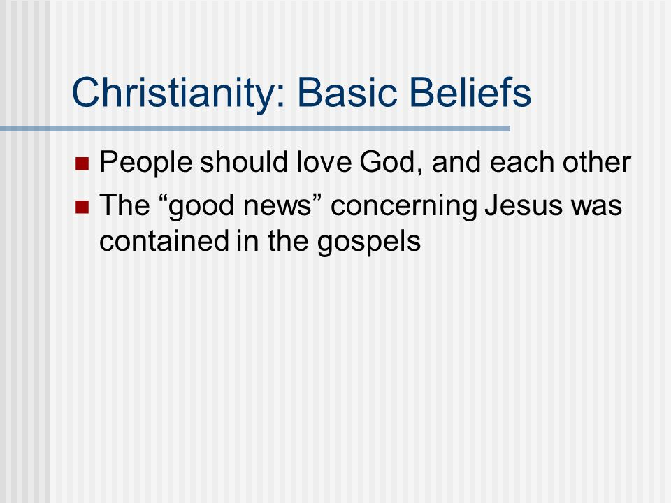 Christianity: Basic Beliefs