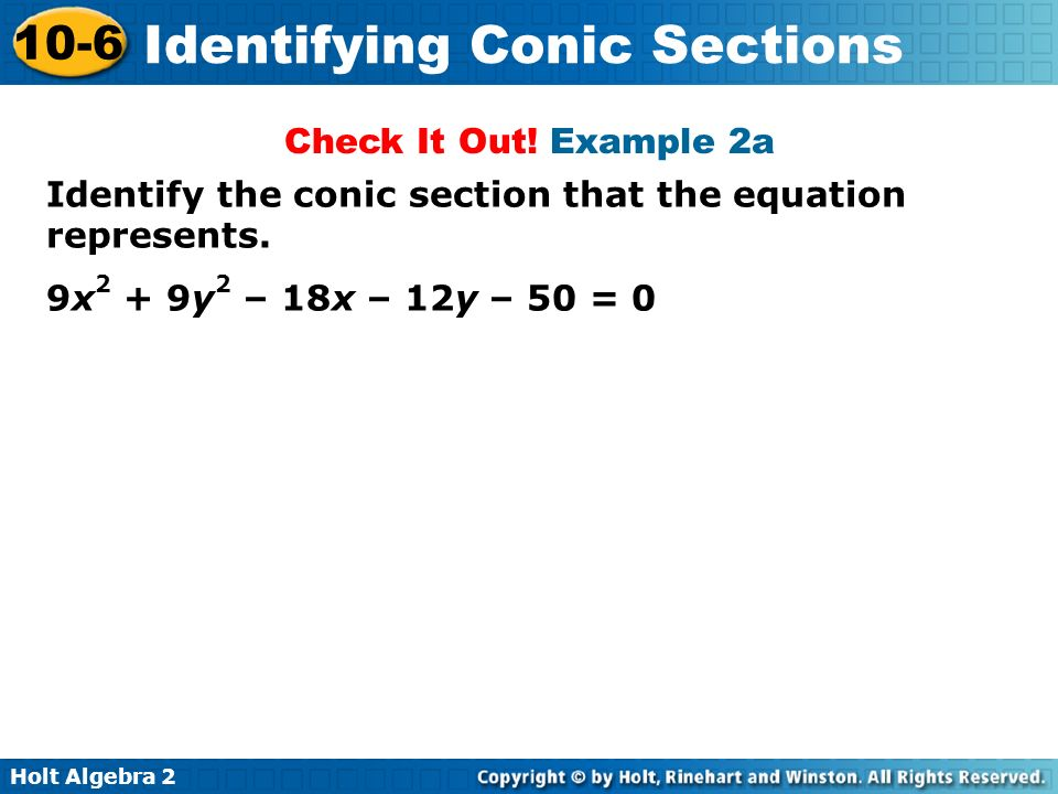 Identifying Conic Sections From Equations 28 Images Conic Identification Teaching Conic