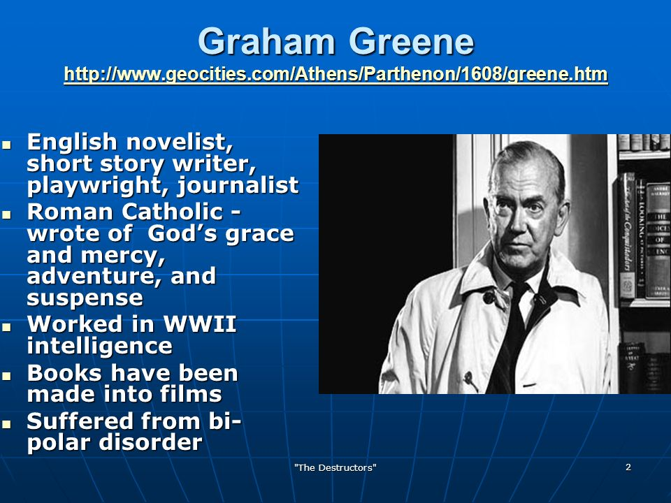 the destructors by graham greene thesis