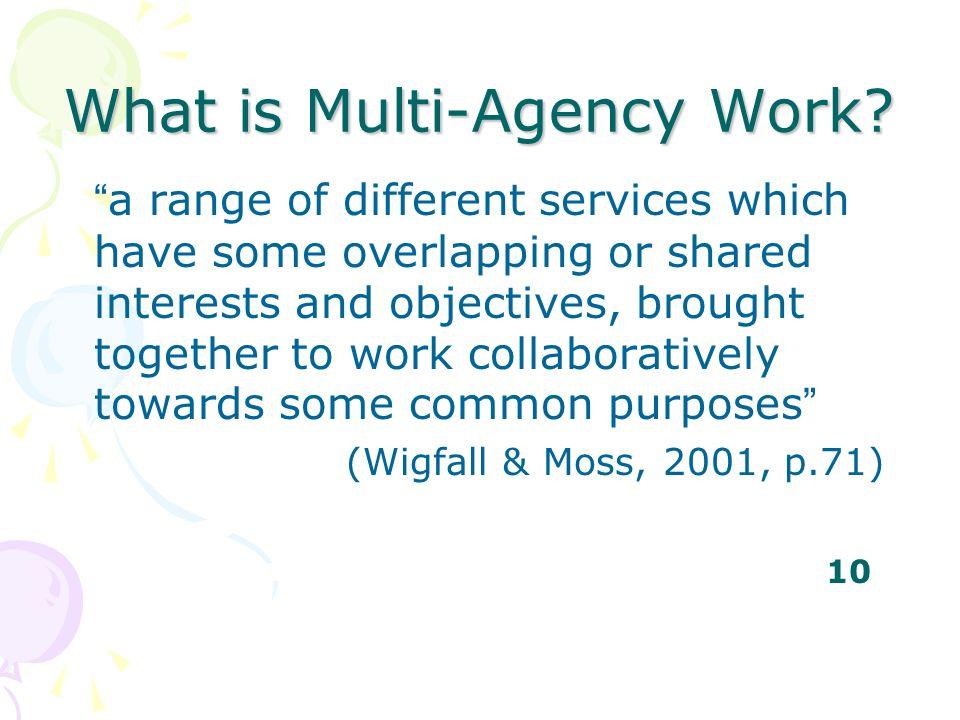 What is Multi-Agency Work