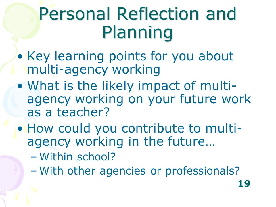 Personal Reflection and Planning