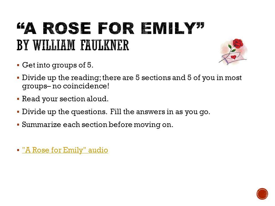 rose emily summary report short story william faulkner