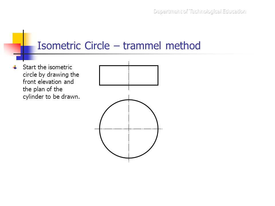 Plan And Elevation Of Cylinder : Isometric drawing trammel method ppt video online download