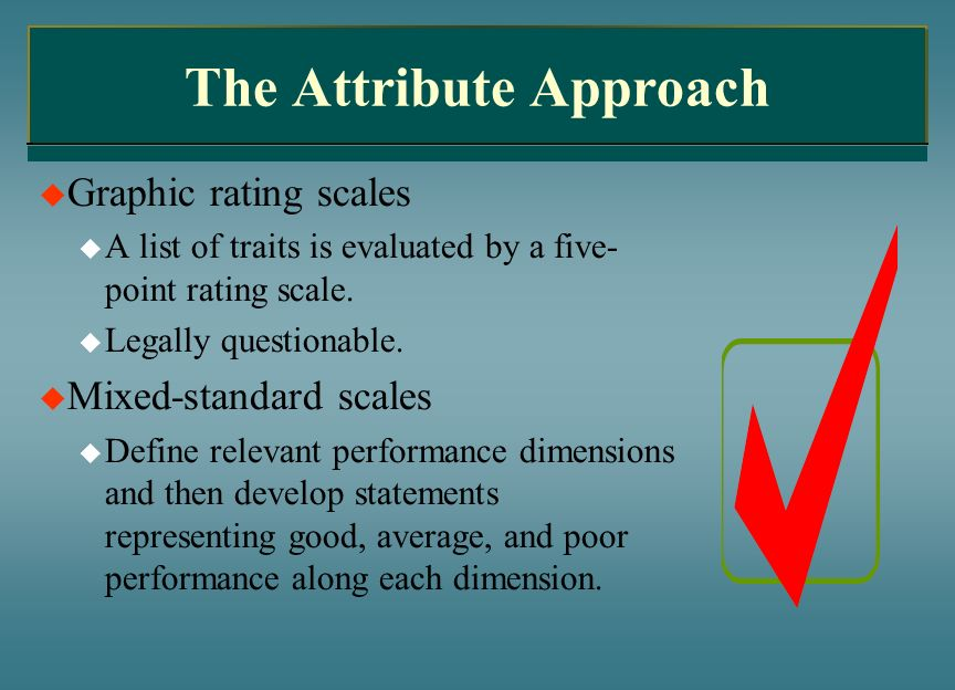 the attribute approach of performance management Multi-attribute decision-making model for employees' performance appraisal   the fuzzy linguistic approach has the advantage of reducing.