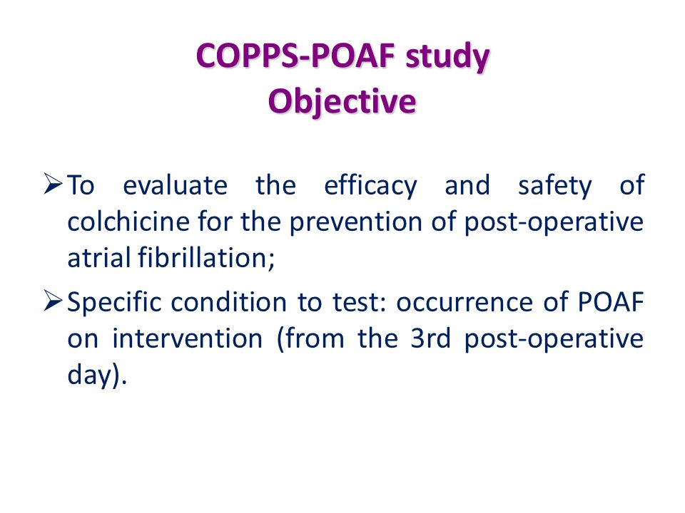 COPPS-POAF study Objective