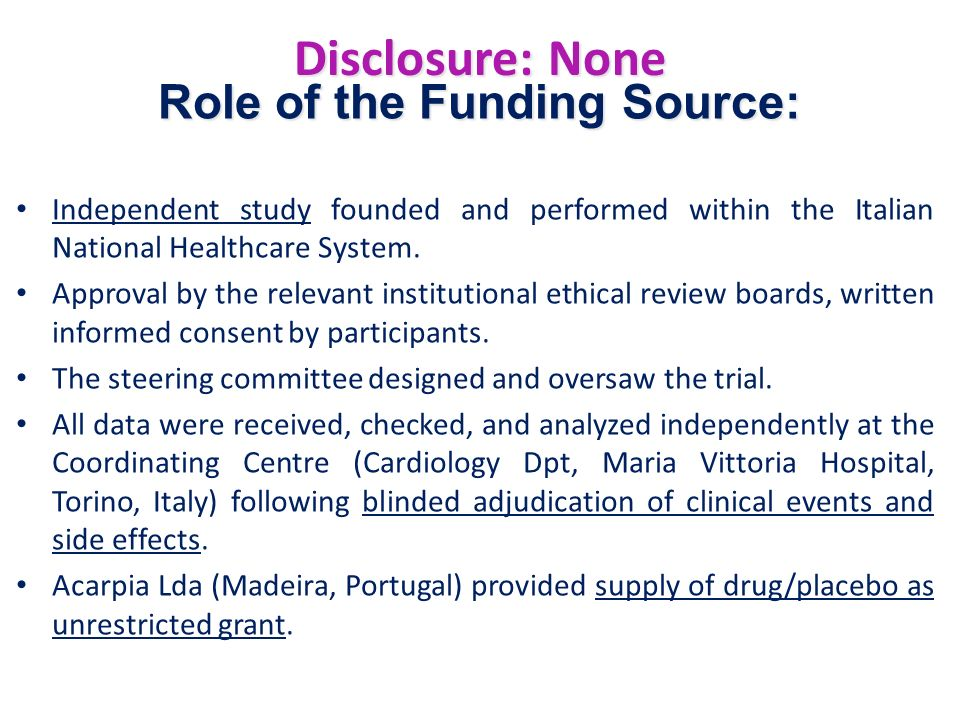 Role of the Funding Source: