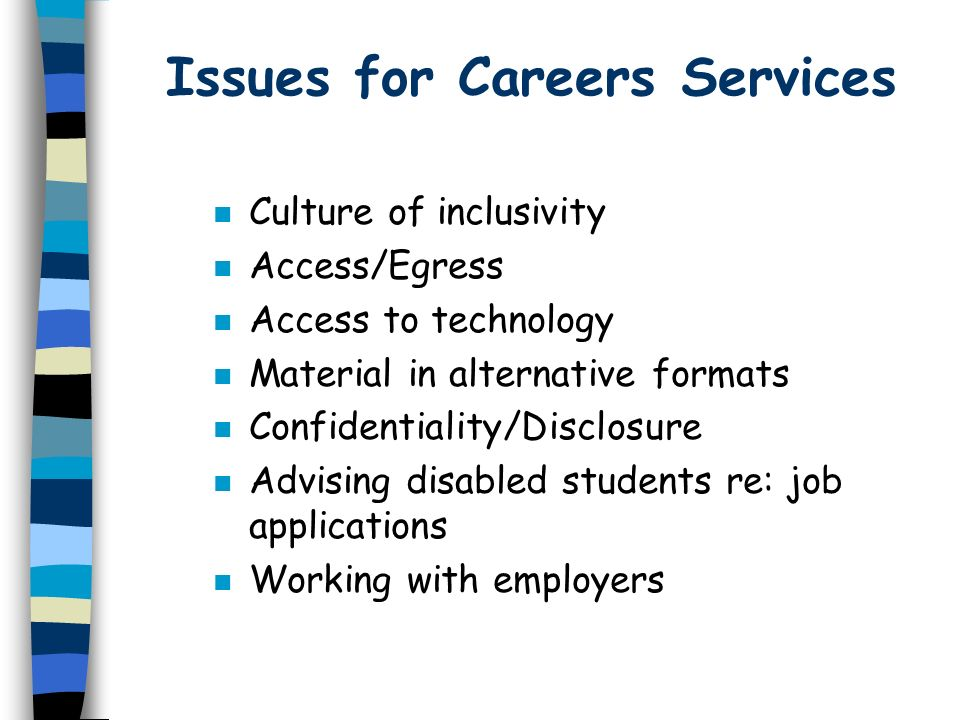 Issues for Careers Services