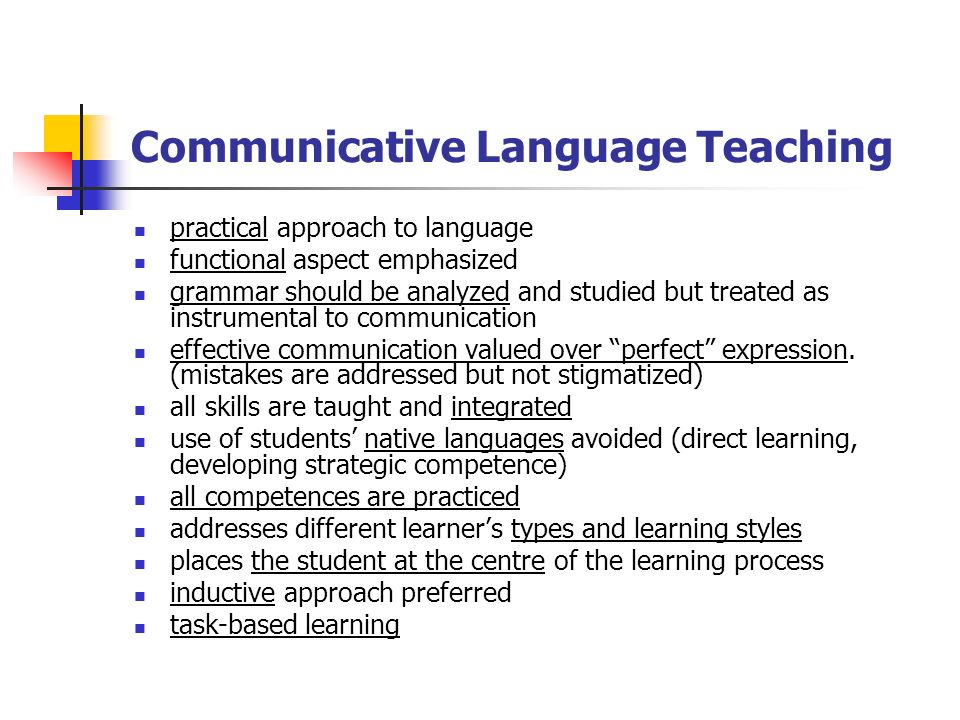 communicative approach to language teaching The department of basic education insists that english as a first additional  language be taught using the communicative approach the use.