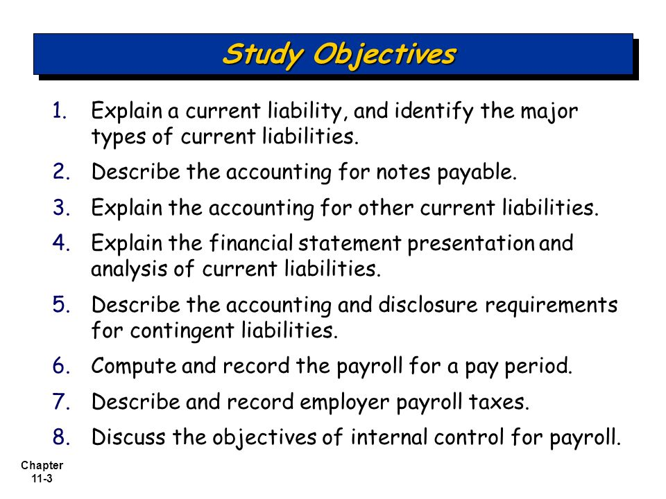 Topic 5: Miscellaneous Accounting